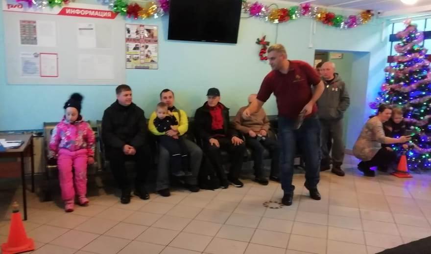 Хоккей в валенках и открытие зимнего сезона на лыжной базе «Восток» коллективом ТЧЭ-2 декабрь 2019