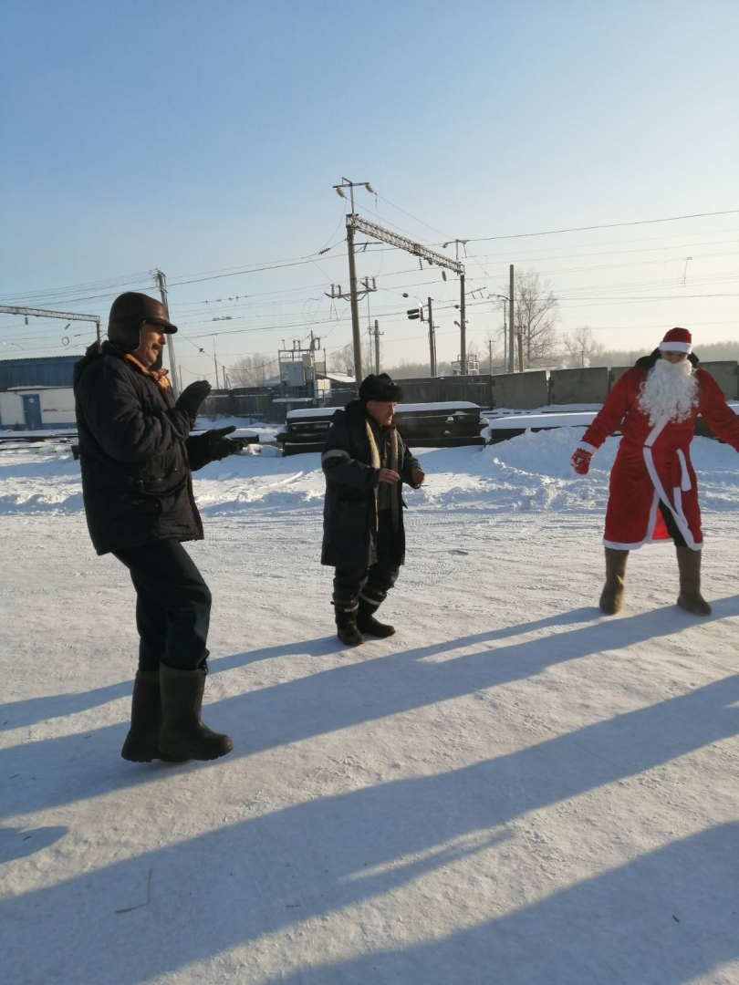 Новогодние мероприятия в Кошурниковской дистанции пути декабрь 2020
