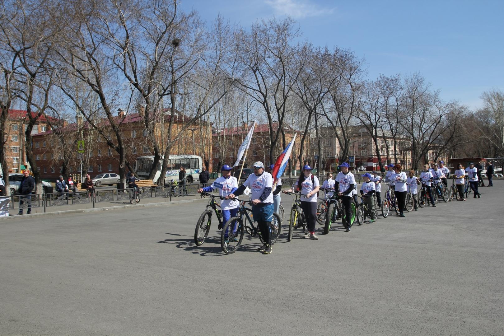 Велопробег, посвящённый 45-летию начала строительства БАМа 4 мая 2019 (Мариинск)