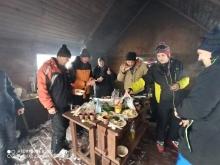 Выезд коллектива эксплуатационного локомотивного депо Абакан на базу «Ергаки» 23 ноября 2019