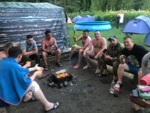 Сплав по Мане работников эксплуатационного локомотивного депо Красноярск-главный 23-25 июля 2021