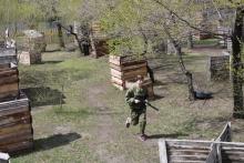 Игра в лазертаг в Красноярской дирекции связи 16 мая 2019